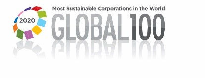 2020 Most ustainable corporations in the wolrd badge