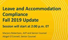 2019 Fall Compliance Update webinar