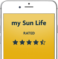 Download the my Sun Life Mobile app. Rated 4.5 stars with 3000   reviews