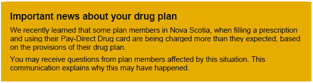 Important news about your drug plan