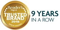 Voted Reader's Digest Most Trusted Brand 6 years