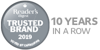 Voted Reader's Digest Most Trusted Brand 8 years in a row