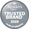 Voted Reader's Digest Most Trusted Brand 9 years